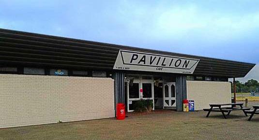 Builders building construction project, new build Pavilion Cafe Beddington Park